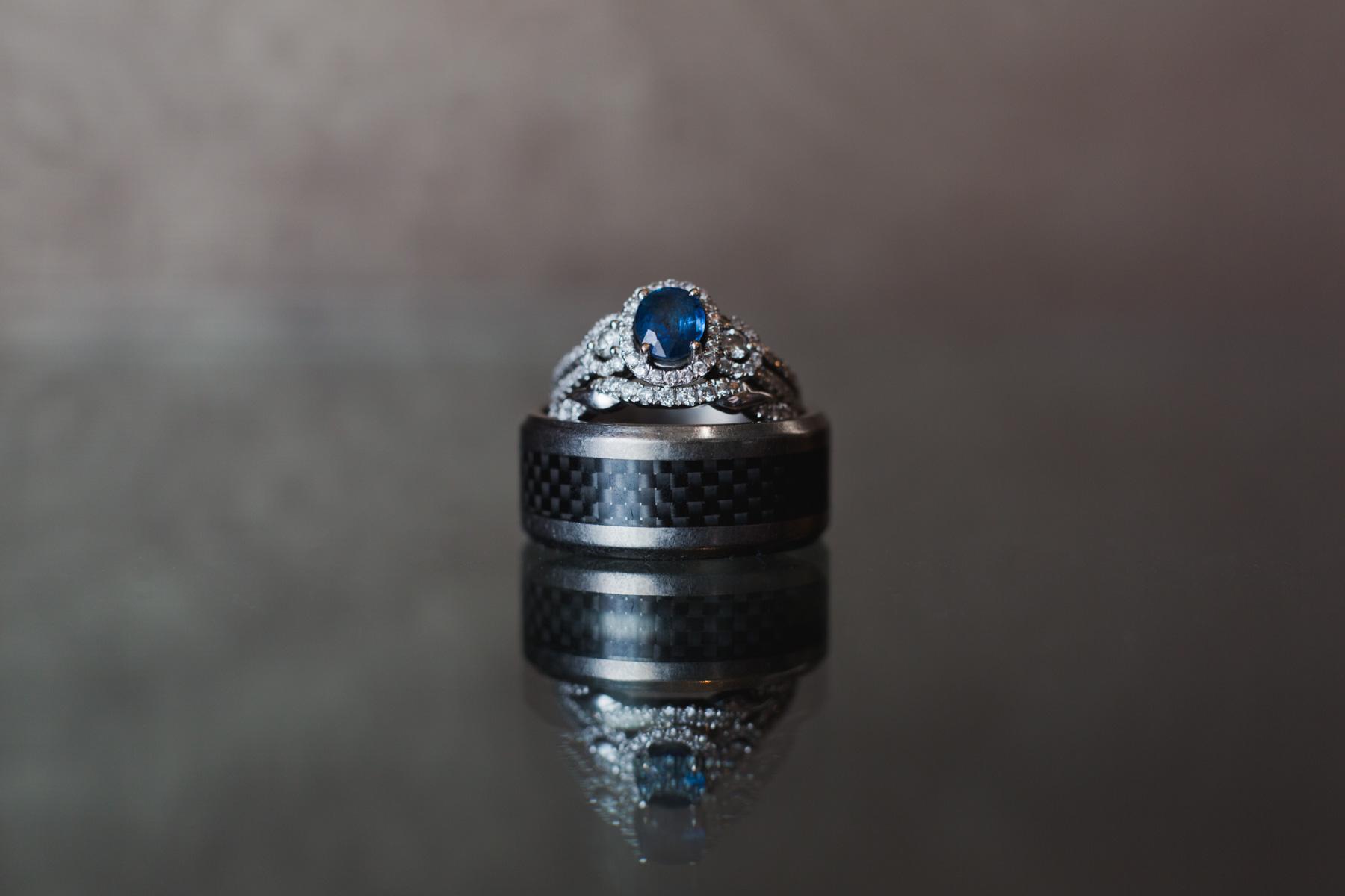 cambridge ma wedding ring detail macro shot