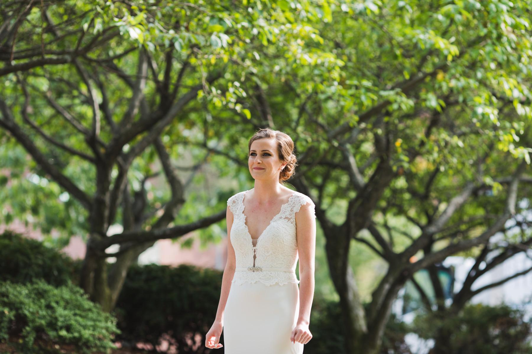 nervous bride waiting