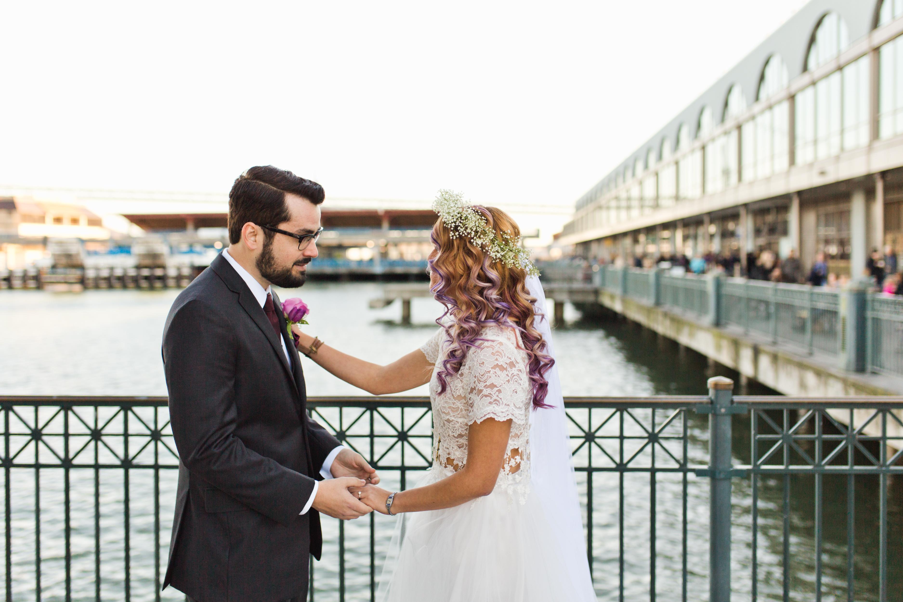 san-francisco-wedding-first-look-ferry-building-mandi-jake