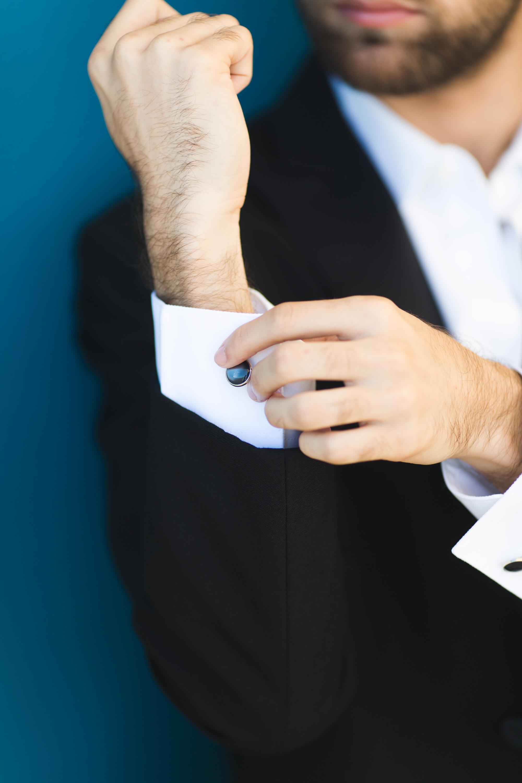 puerto rico wedding detail cufflinks