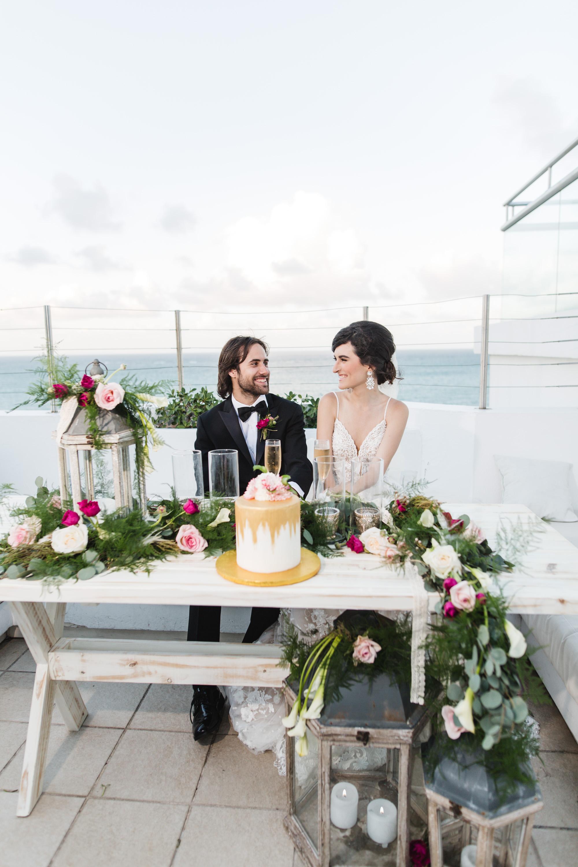 rooftop reception in puerto rico wedding
