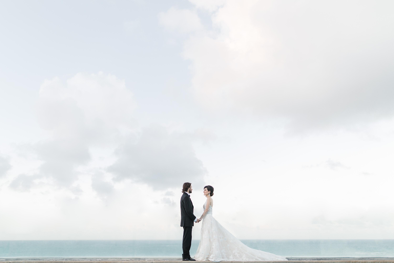 puerto rico epic rooftop wedding