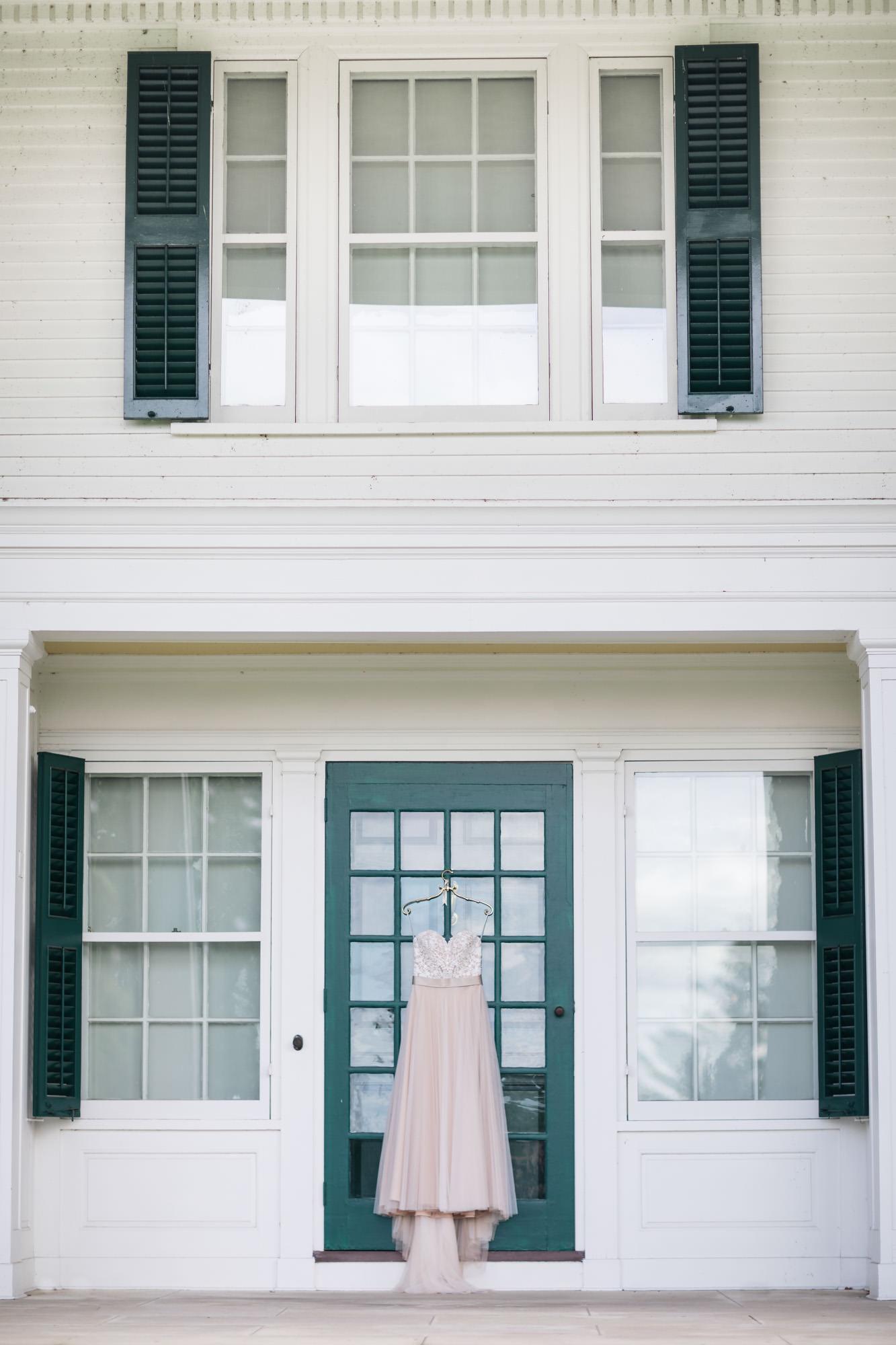 wedding dress on museum