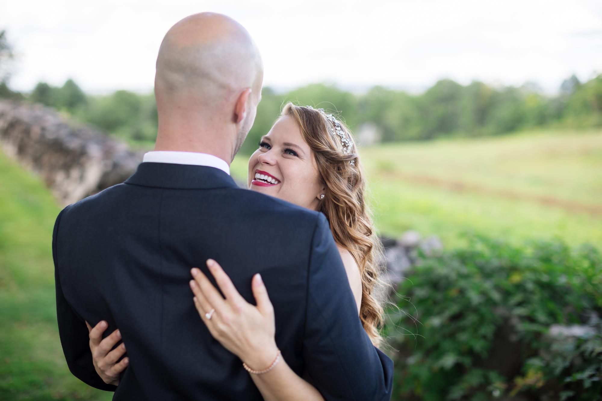 wedding portraits happy