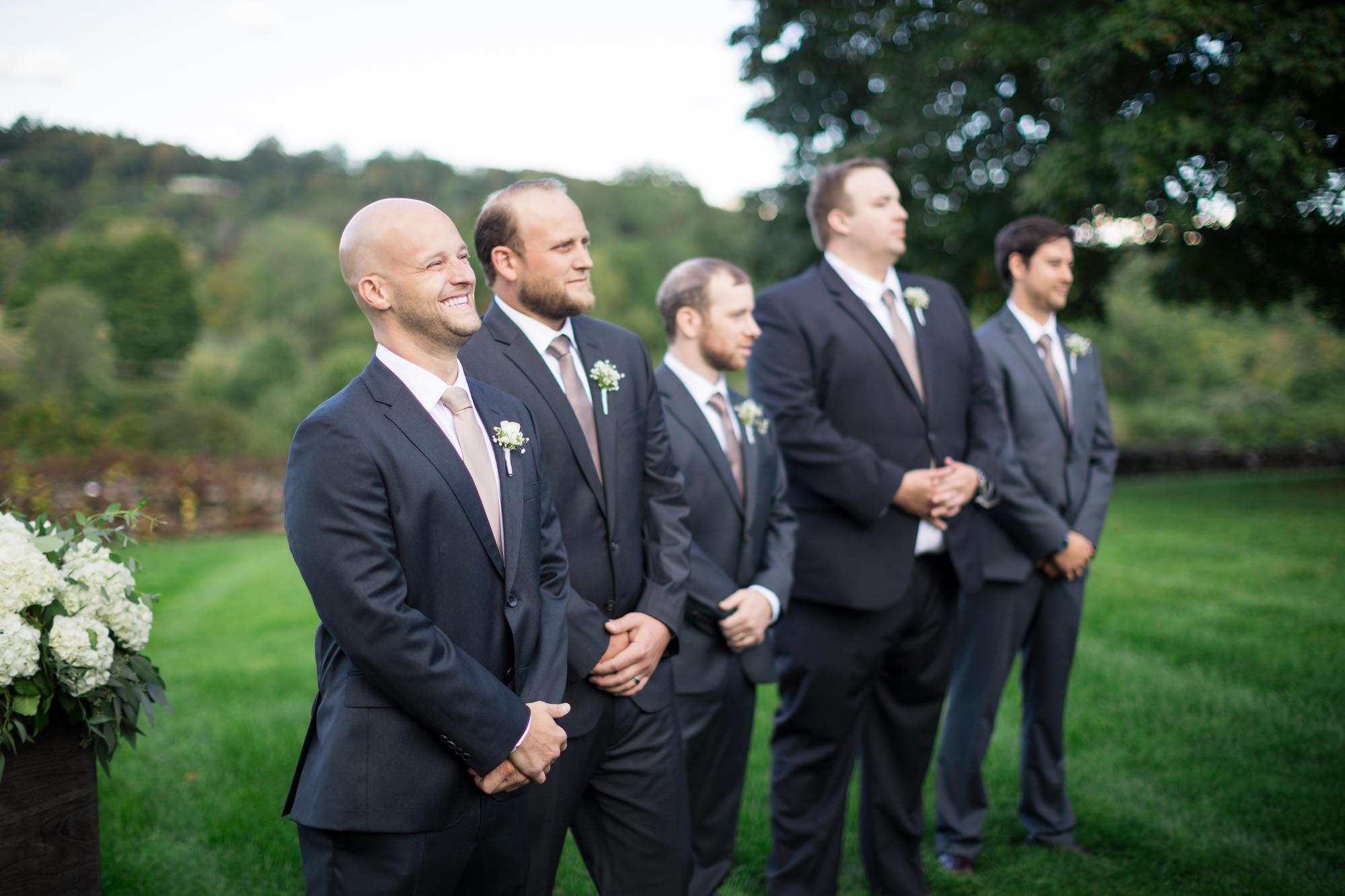 hillstead museum wedding groom sees bride