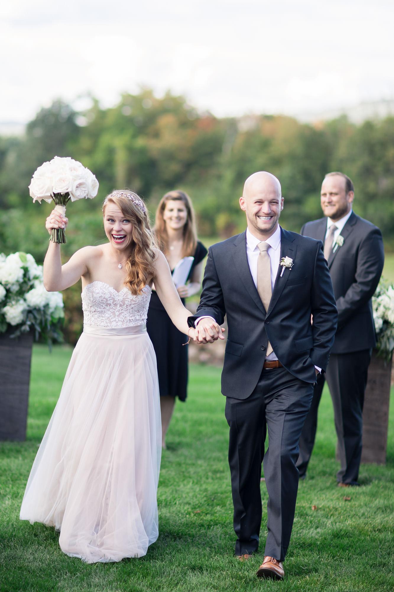 happy bride and groom wedding