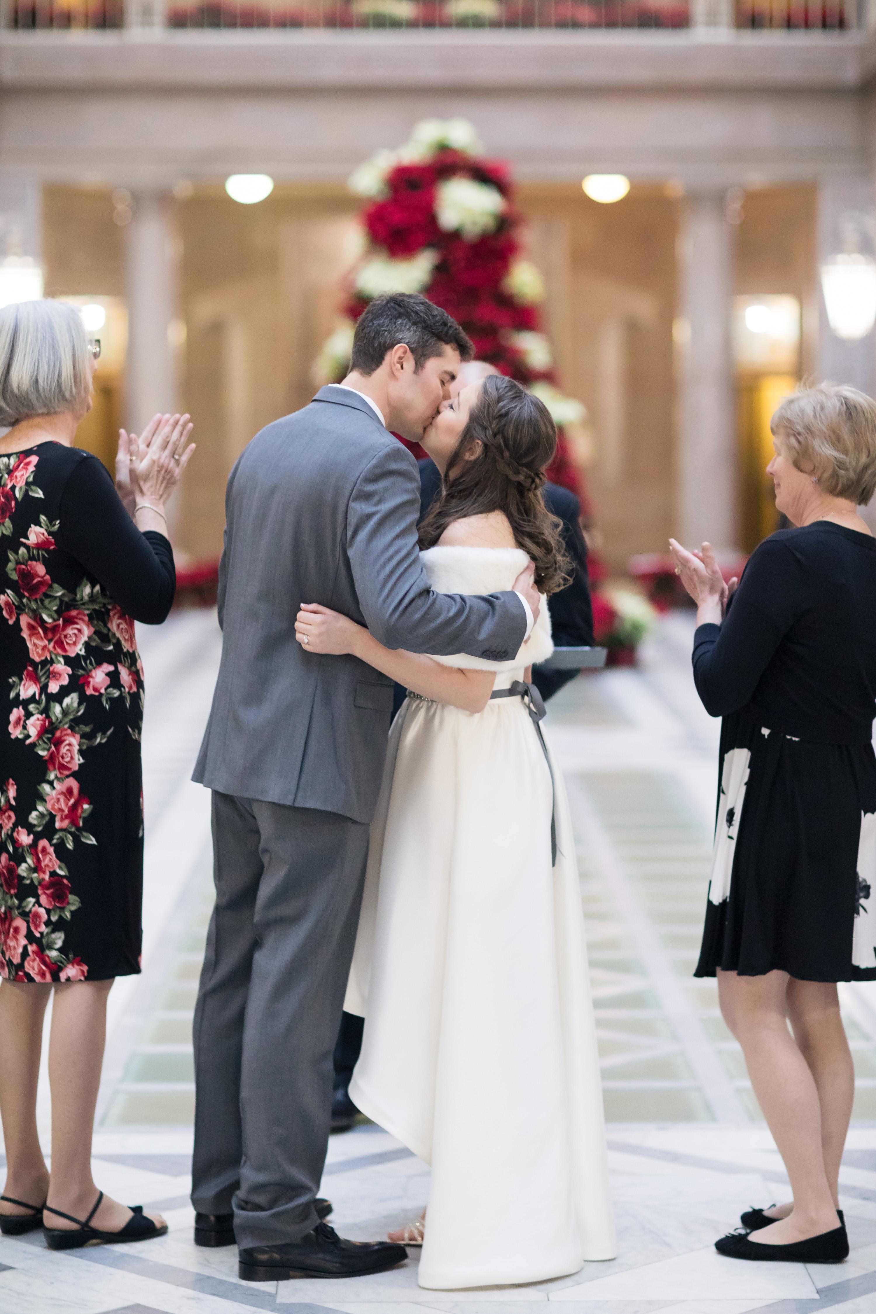 hartford city hall wedding ceremony chris and becca