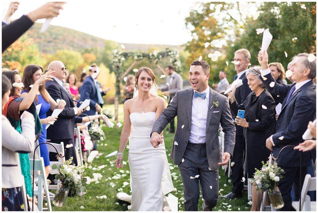 backyard-wedding-connecticut-ceremony-exit-flower-petals