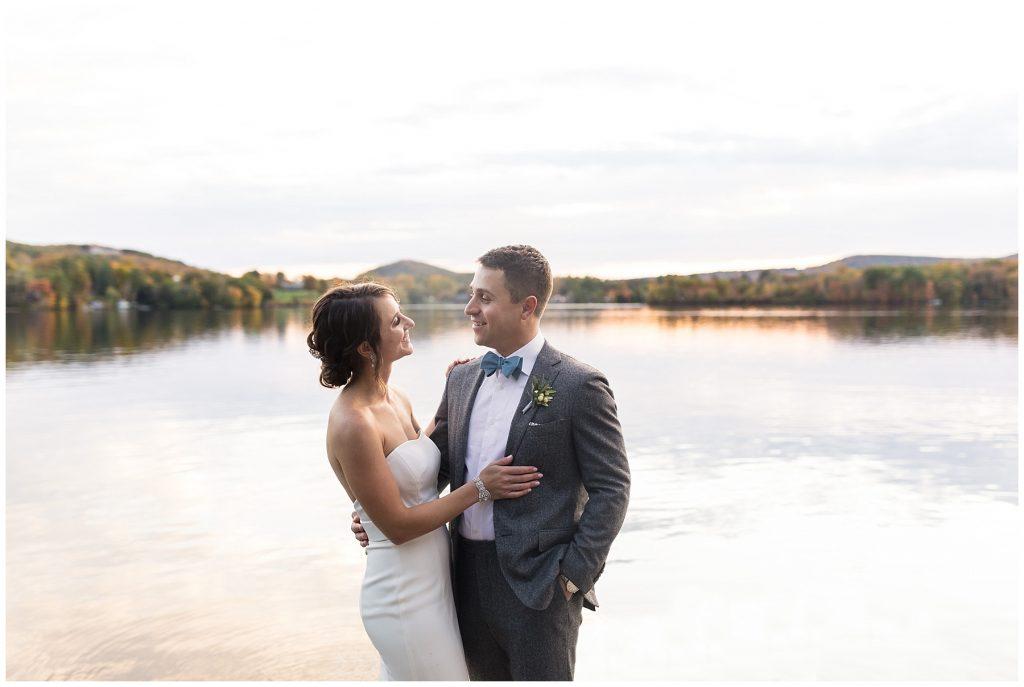 wedding-portraits-lakeside-sunset